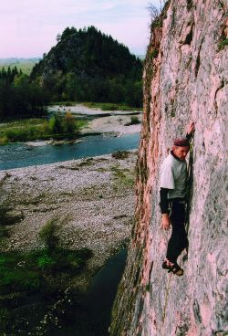 Jan Muskat wspina się na Kramicy