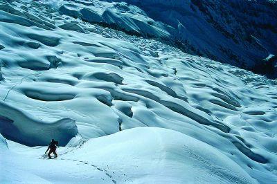 Droga przez lodowiec – morze szczelin