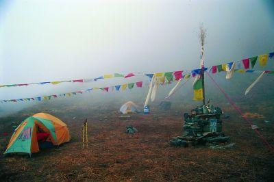 Baza przed odwrotem – żegnała nas mgła i burza.